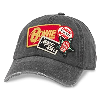 cfa9b99e American Needle Iconic Patch Distressed Dad Hat David Bowie, Black ...