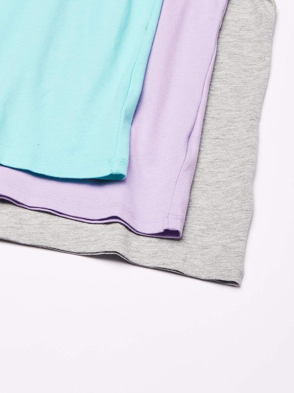Essentials Lot de 3 t-Shirts /à Manches Courtes pour Fille