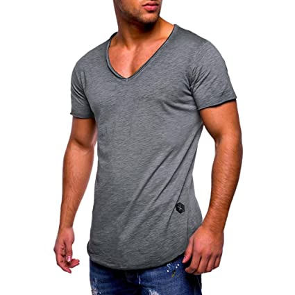 638c82c97b Amlaiworld Camiseta de Hombre Deporte de Manga Corta Camisas Deportivas de Hombres  Tops Blusa