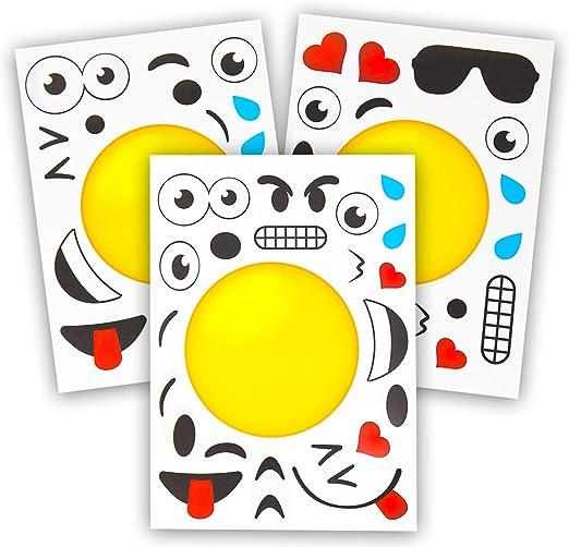 Amazon.com: 24 Hacer una emoji pegatinas para niños ...
