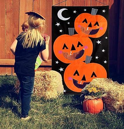 ert pumpkin bean bag toss game with 3pcs bean bags halloween decorations pumpkin banner halloween games