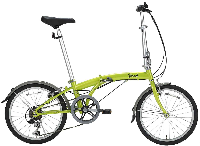 yeah(ヤー) プロスパー 20インチ 6段変速 DAHONライセンス 折りたたみ自転車 R146 ライムグリーン B072MK149C