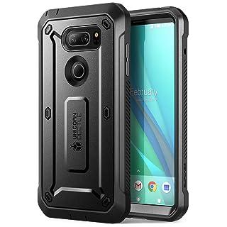 LG V30 Case, SUPCASE Full-body Rugged Holster Case with Built-in Screen Protector for LG V30, LG V30s,LG V30 Plus,LG V35,LG V35 ThinQ 2017 Release, Unicorn Beetle Pro Series (Black/Black)