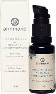 product image for Annmarie Skin Care Herbal Facial Oil for Normal and Combination Skin - Balancing Moisturizer with Blue Chamomile, Tamanu Oil + Grapeseed Oil (15 Milliliters, 0.5 Fluid Ounces)