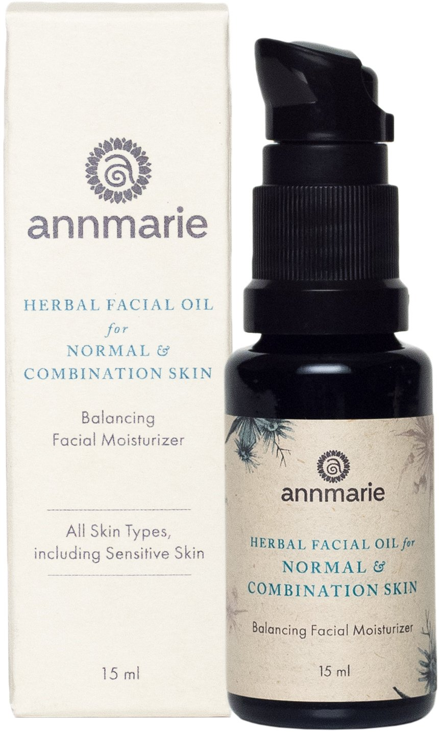 Annmarie Skin Care Herbal Facial Oil for Normal and Combination Skin - Balancing Moisturizer with Blue Chamomile, Tamanu Oil + Grapeseed Oil (15 Milliliters, 0.5 Fluid Ounces)