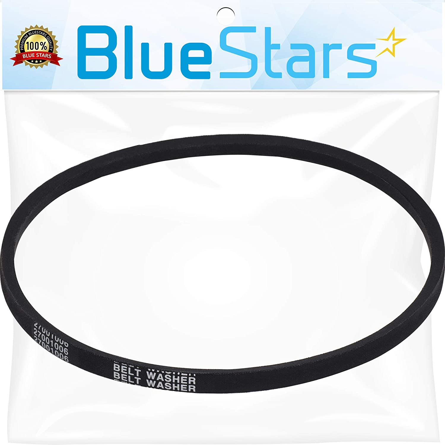 Ultra Durable 27001006 Washer Drive Belt Replacement Part by Blue Stars - Exact Fit for Whirlpool Amana Maytag Washers - Replaces 38174 WP27001006 40053606 2200063 AP6007462 PS11740577
