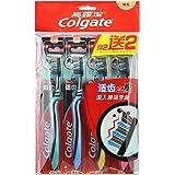 Colgate 高露洁 适齿炭多效牙刷×4 (升级含炭 软毛)