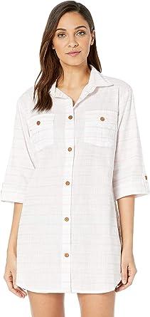 8972aec64e Amazon.com: Dotti Women's Baja Stripe Shirtdress Cover-Up: Dotti: Clothing