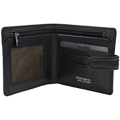 Brown Visconti Tuscany 48 Secure RFID Blocking Genuine Leather ID Wallet