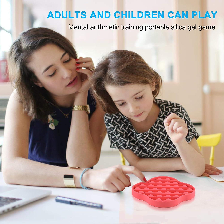 Clover Red Fidget Toys Pop Pop Bubble Sensory Fidget Toys Autism Special Needs Stress Reliever Push Squeeze Sensory Toy Silicone Stress Reliever Toy Help Restore Emotions