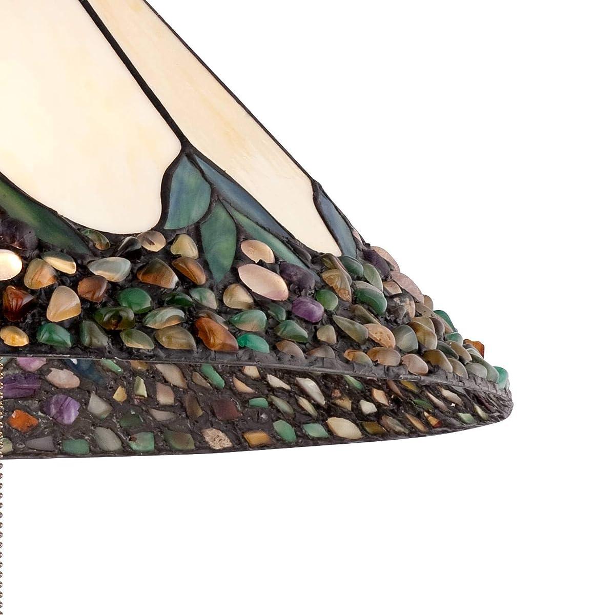 "Robert Louis Tiffany River Stone 20-3/4""W Plug-in Pendant - Robert Louis Tiffany"