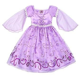 76956cfc2 AmzBarley Rapunzel Dress Girls Princess Costume Birthday Party ...