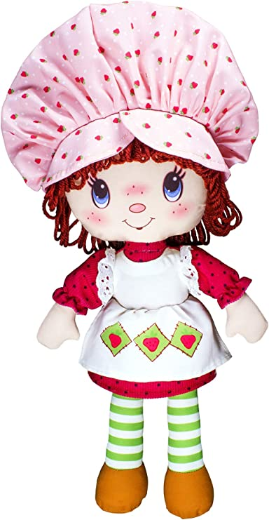 Amazon Com Basic Fun Strawberry Shortcake Retro Classic Soft Doll For 3 Years Old And Up Styles May Vary Red 14 Inches Toys Games