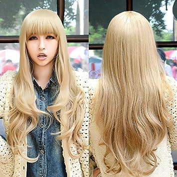 Frisuren lange lockige haare pony