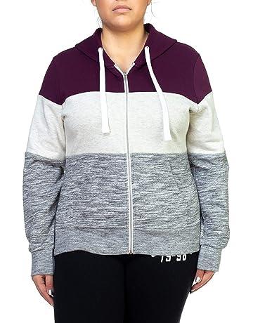 b7b52ac91f8 OLLIE ARNES Women s Thermal Long Hoodie Zip Up Jacket Sweater Tops