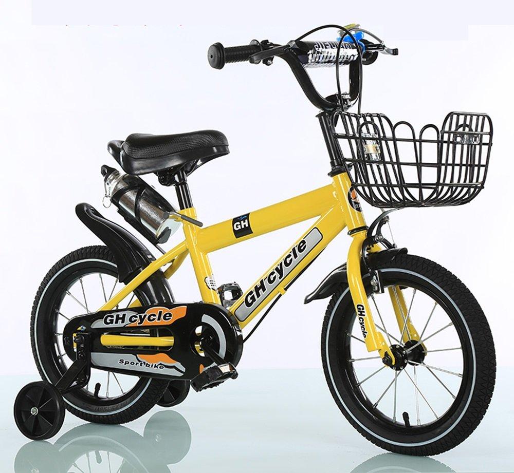 男性と女性のサイクリング、子供用自転車、ベビーベビーカー ( 色 : イエロー いえろ゜ , サイズ さいず : 115cm ) B078KWJZR3イエロー いえろ゜ 115cm