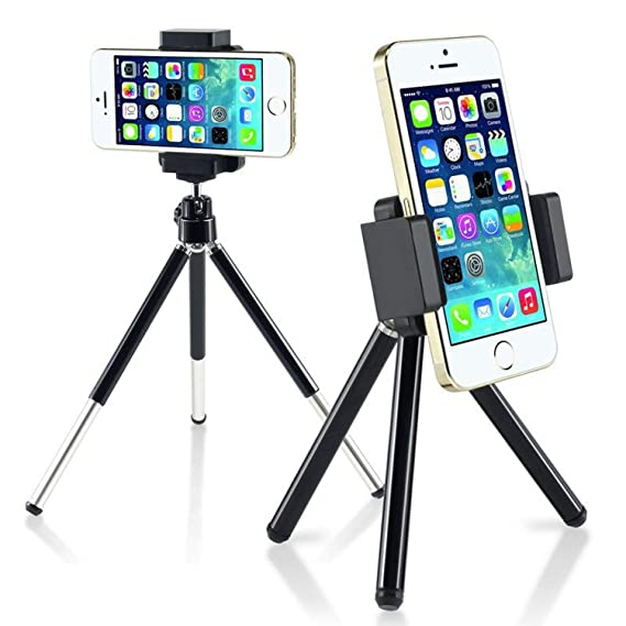 save off f50e8 65dbe Tripod Compatible with iPhone 6, Insten Tripod Phone Holder Compatible with  Apple iPhone X/XS/XS Max/XR /7 Plus/6S/6S Plus/Samsung Galaxy S10/S10 ...