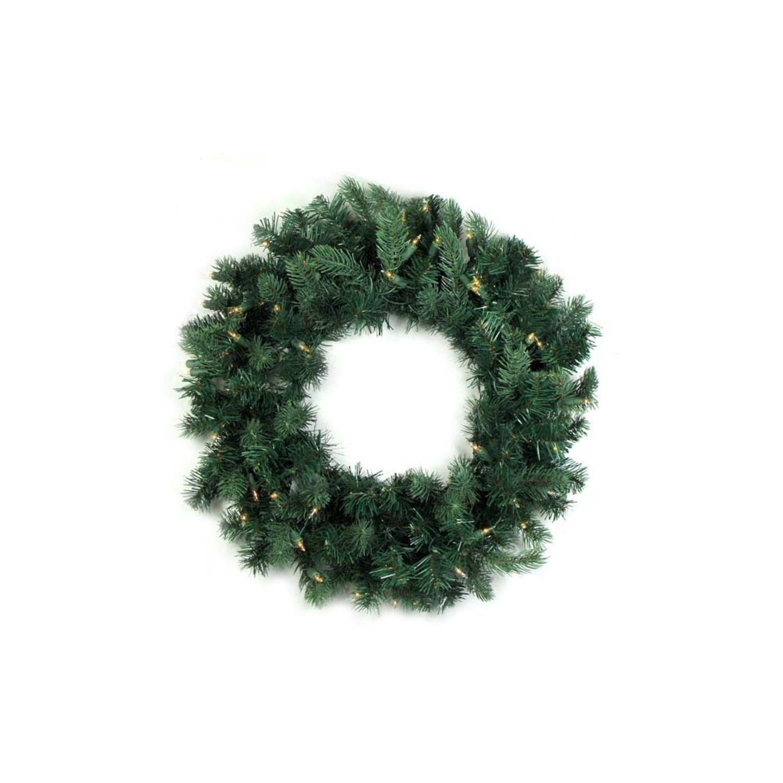 Northlight Pre-Lit Washington Frasier Fir Artificial Christmas Wreath with Clear Lights, 48''