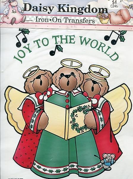 amazoncom daisy kingdom christmas iron on transfer joy bears