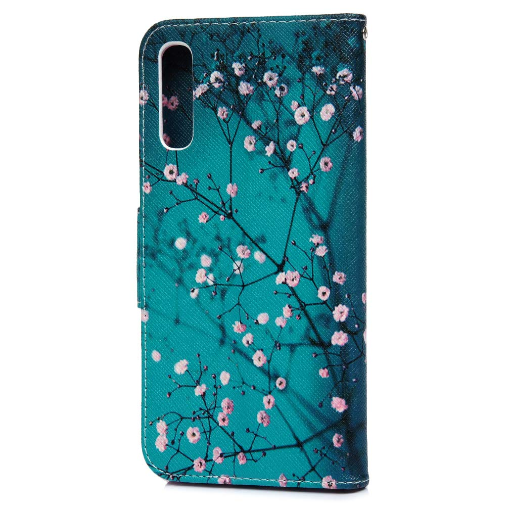 MLorras H/ülle f/ür Samsung Galaxy A50 Einfarbiger Flip PU Leder Handyh/ülle Klappbares Brieftasche Schutzh/ülle Stand Wallet Case Cover Tasche mit Karteneinschub Fliegende Vogelfeder