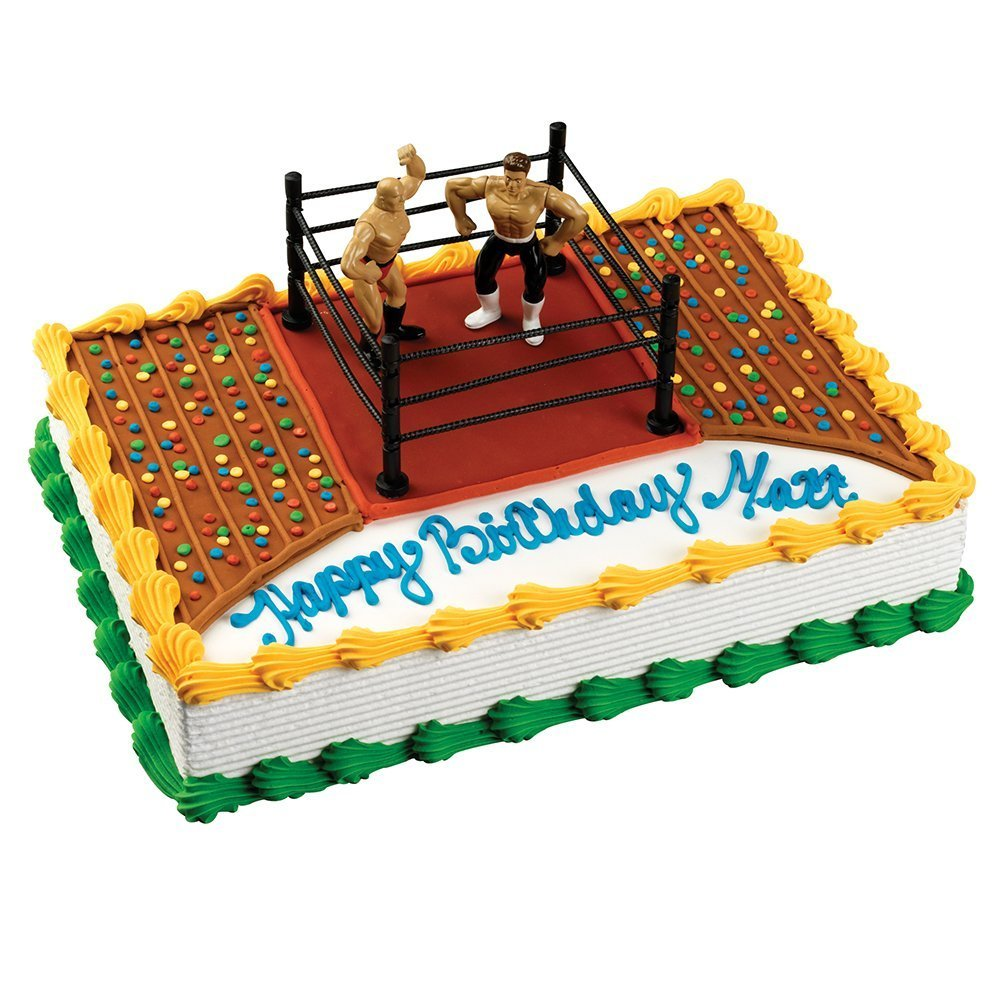 Wrestling Aaa Wrestlers Cake Topper Party Supplies Wwf Amazon