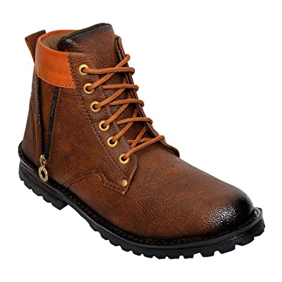 DESI JUTA New Latest Fashion Bote Zip Stylish Boots Laceup Shoes for  Men Mens  202fbb217bd6