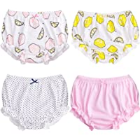 XMS-Tech Soft Baby Underwear for Toddler Girls Cotton Training Pants Pack of 4