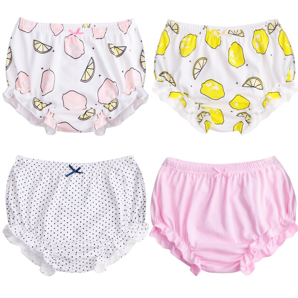 Kidsparadisy Soft Baby Potty Training Pants for Toddler Girls' Cotton Underwear 4 Pack 100cm (2-3Y)) XMS-5000