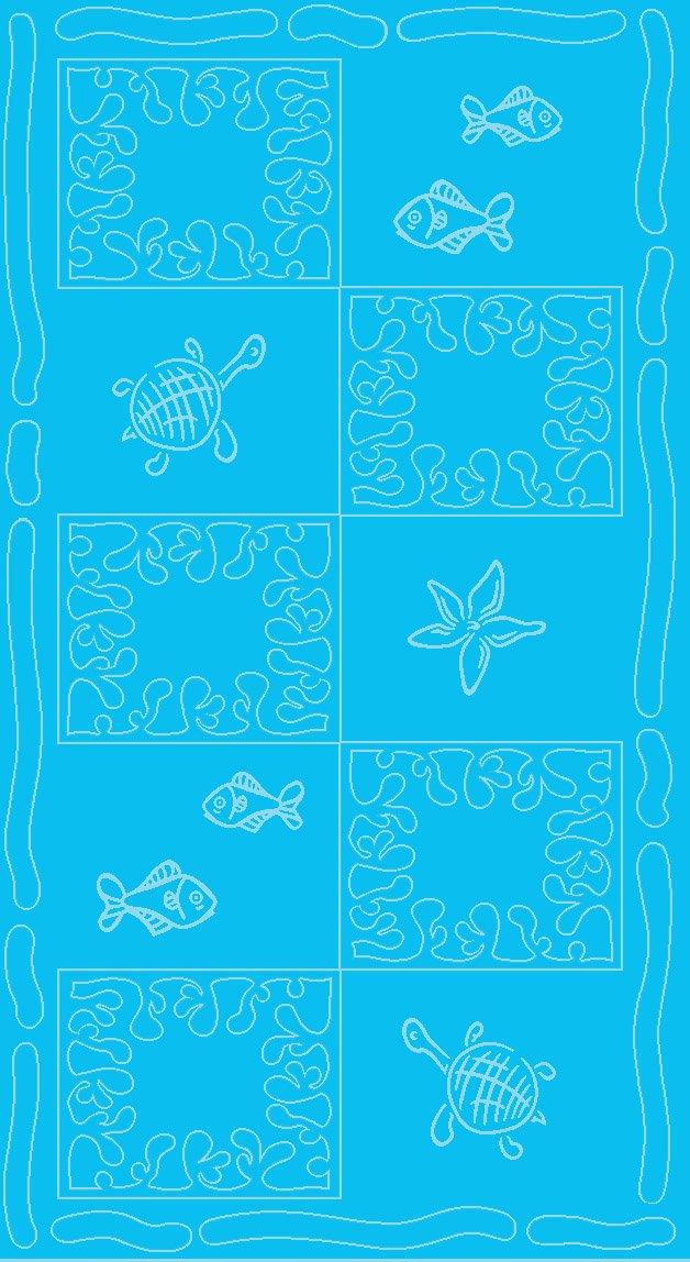 So My Home SERVIETTE DE PLAGE EN VELOURS SAIL Bleu ciel TAILLE XXL 100x200CM PUR COTON
