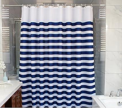 Amazon Eforcurtain Nautical Stripes Mildew Proof Water