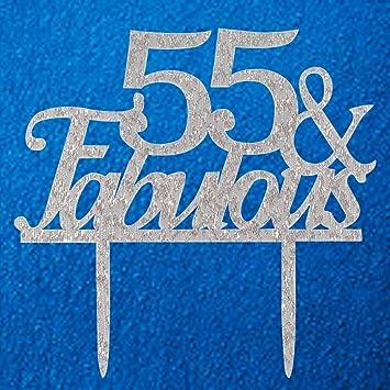 Amazon 55 Fabulous Cake Topper 55th Birthday Party