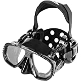 IST ProEar Scuba Diving Mask with Watertight Ear Cup Covers & RX Prescription Lenses