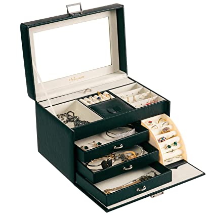 Amazoncom HollyHOME Jewelry Box Jewelry Storage Organizer Case