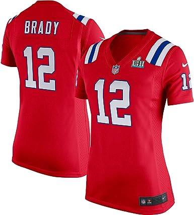 Adulto píldora gastos generales  Amazon.com: Nike Tom Brady England Patriots - Camiseta de manga corta para  mujer (talla XL), color rojo: Clothing