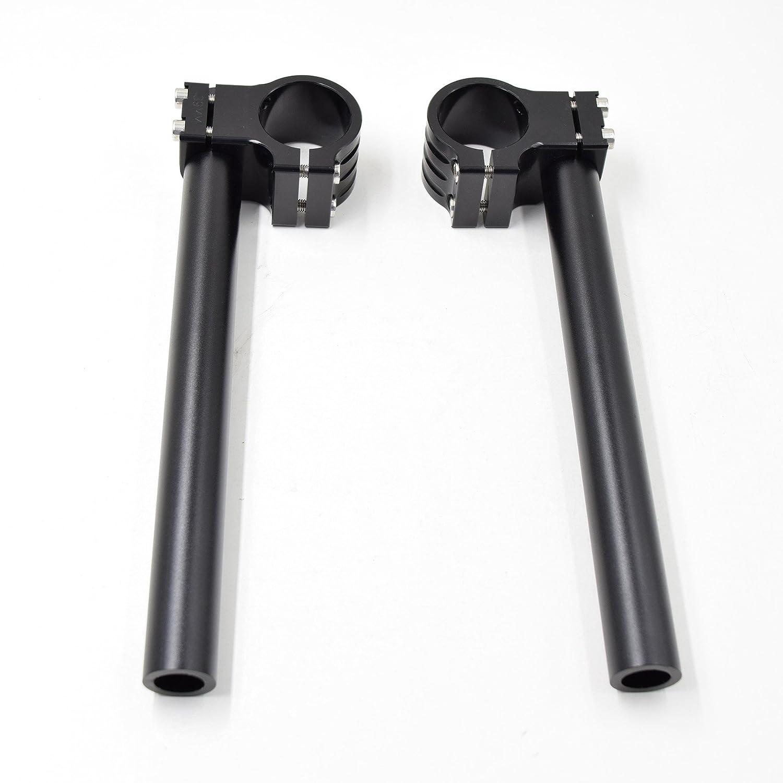 CNC Aluminio Kit semimanillares moto 33mm para CMX250//CB350//CB400//KZ400//GN250 GS250 GS400 //SRX250//XV250 XS400 Universal Tenedor /Ø 33MM semimanillares racer caf/é /Ángulo 8 /° tubos /Ø 22MM color Negro