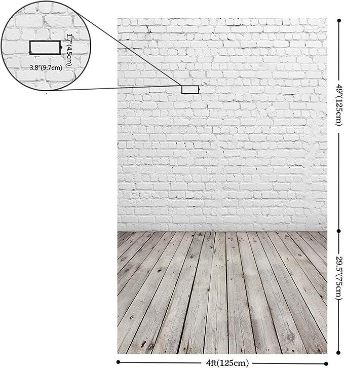 Huayi D 2504 Fotohintergrund Mit Weißem Ziegelmauer Und Kamera
