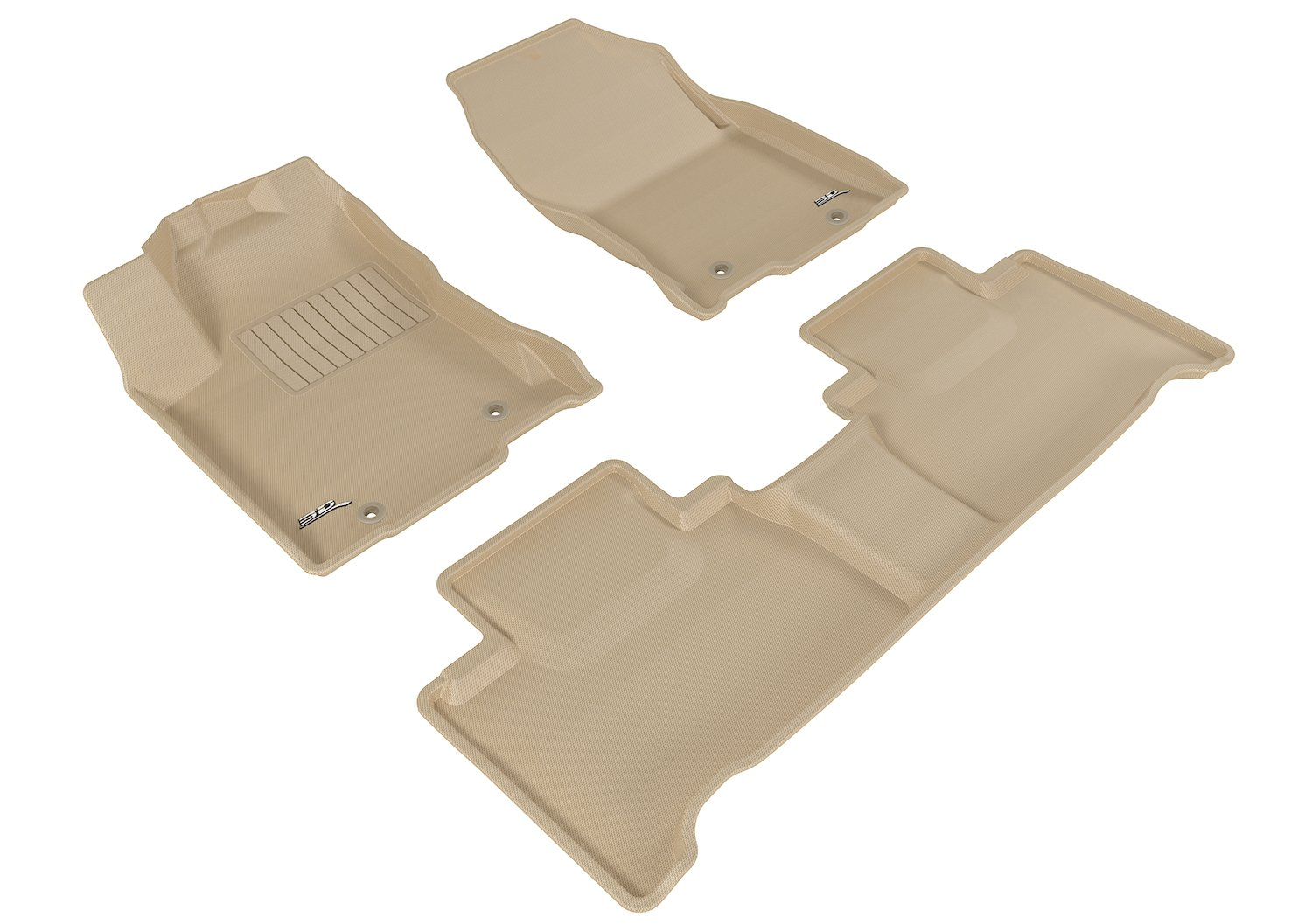 L1LX05101502 Tan Kagu Rubber 3D MAXpider Complete Set Custom Fit All-Weather Floor Mat for Select Lexus NX// NX Hybrid Models