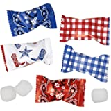 Western Cowboy Bandana Buttermints Candy Bags 100 Count Mint Candies 14 Oz (396g) Treats Sweets Party Favors For Blue…