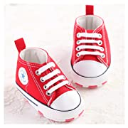 Save Beautiful Toddler Baby Girls Polka Dots Shoes Infant First Walkers (0-6months, Red2)