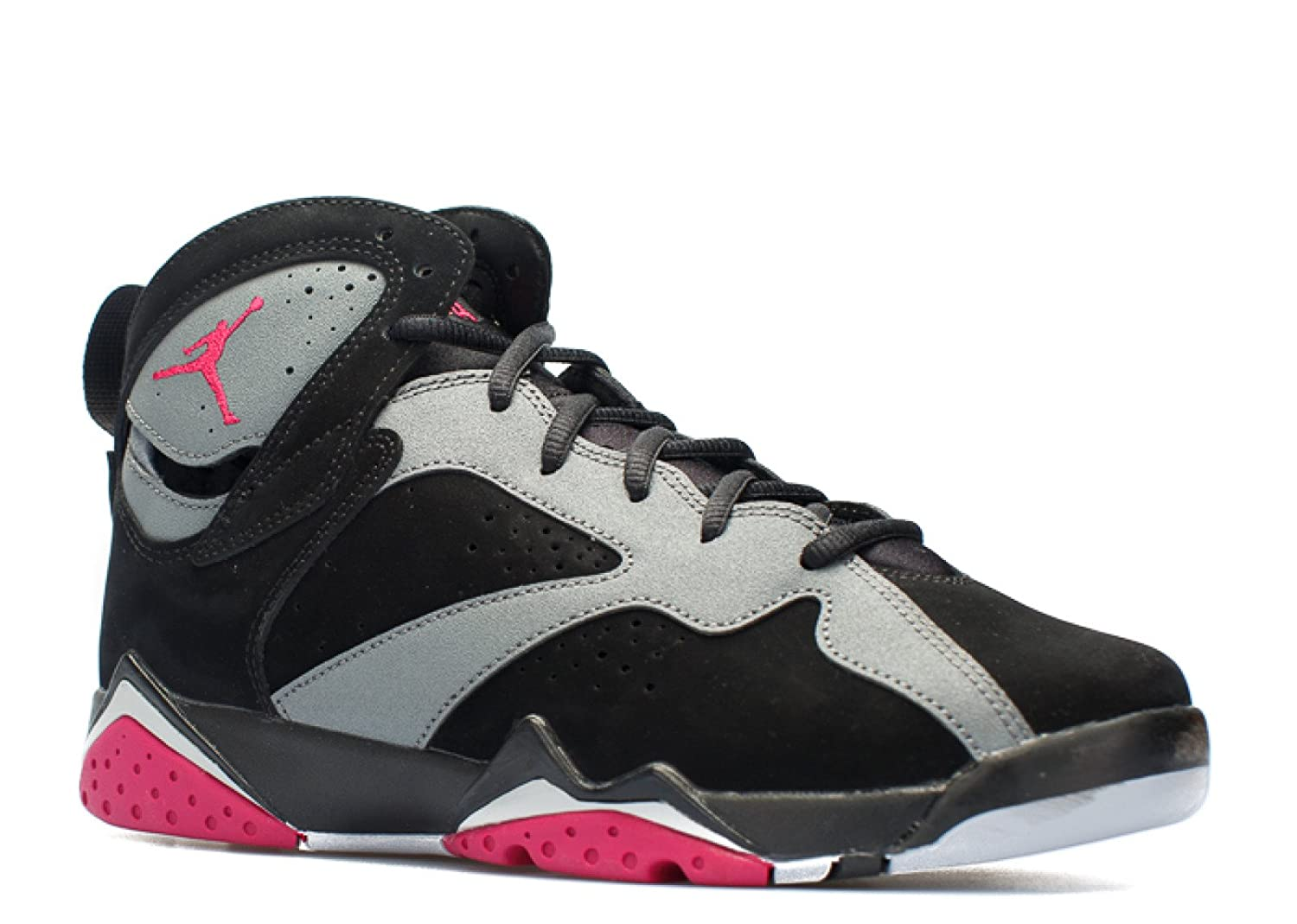 ad8b1718795 Amazon.com | Nike Boys Air Jordan 7 Retro GG Sport Fuchsia Black/Sport  Fuchsia-Cool Grey Suede Size 7Y | Basketball