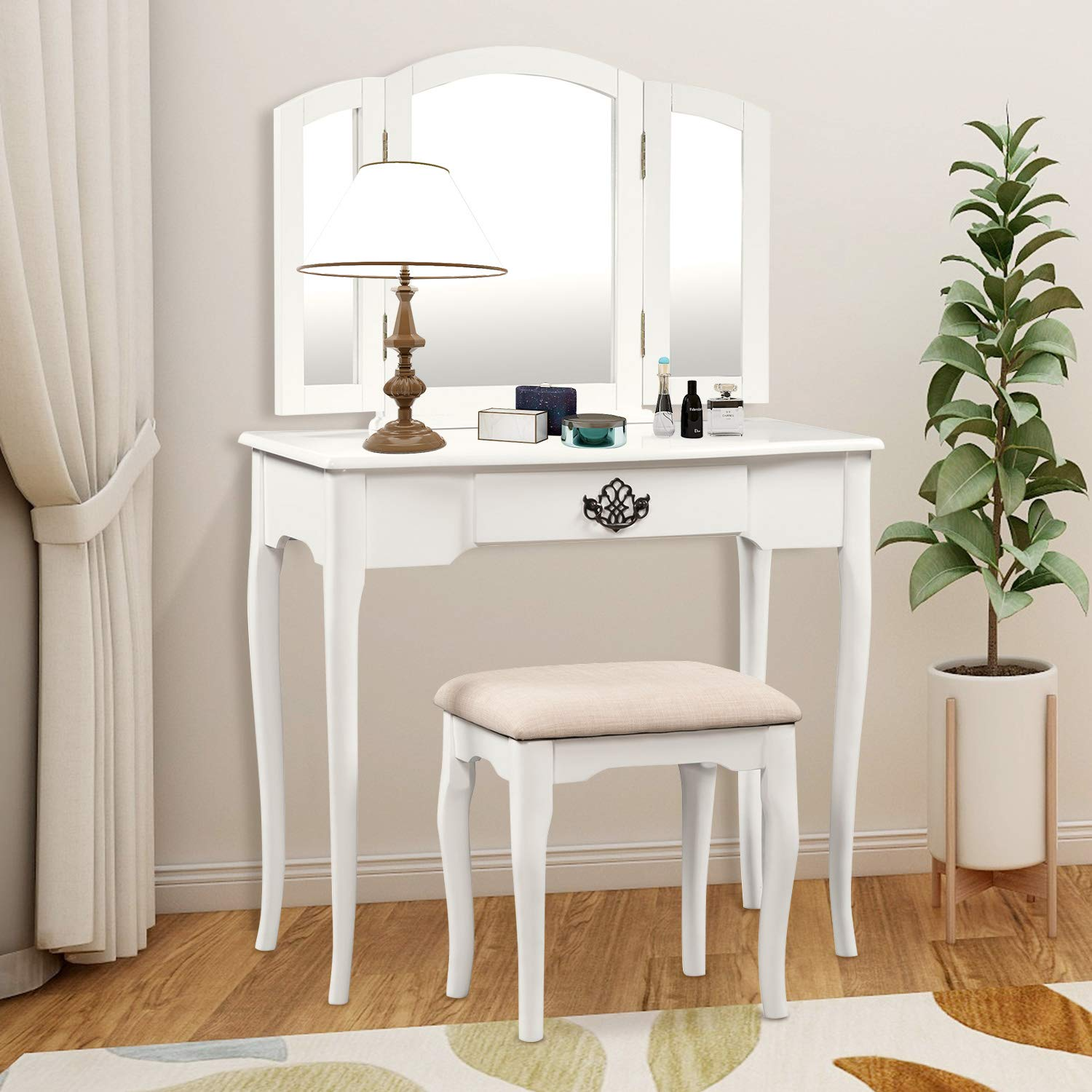 18 Beautiful Bright Kitchen Design Ideas To Serve You As: Harper&Bright Designs Vanity Table Set With Mirror And
