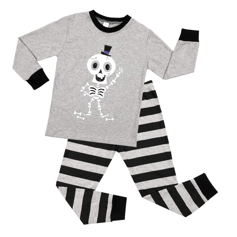 CharmLeaks Little Boys Cotton Pajamas Long Sleeve Sleepwear 2 Piece PJS Sets