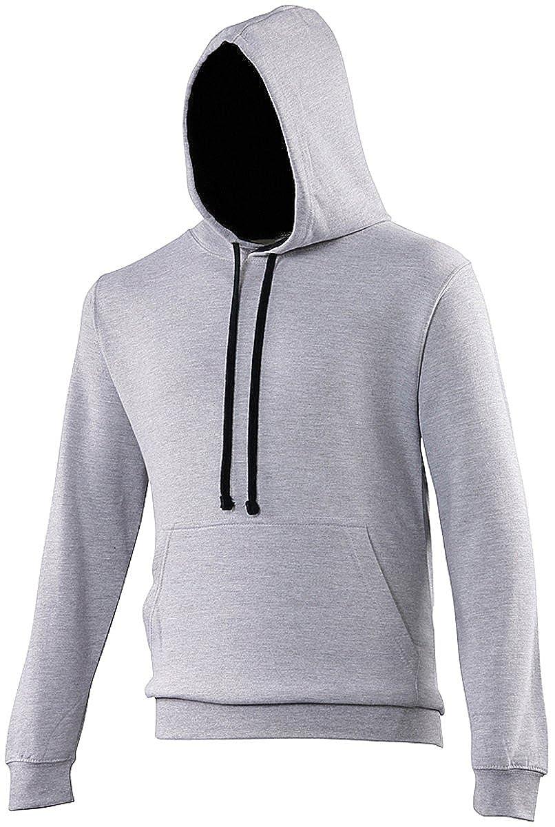 AWDis Hoods Varsity Hoodie Heather Grey-French Navy Streetwear Hoodies
