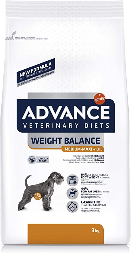 Advance Veterinary Diets pienso para Perros Obesidad 3 kg – Pack ...