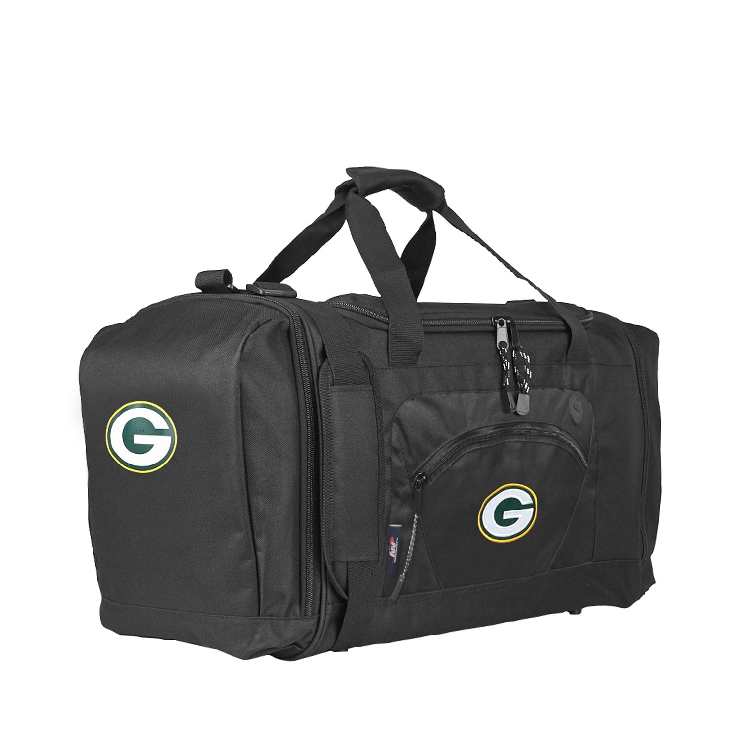 The Northwest Company Officially Licensed NFL Green Bay Packers Unisex ''Roadblock'' Duffel Bag, Black