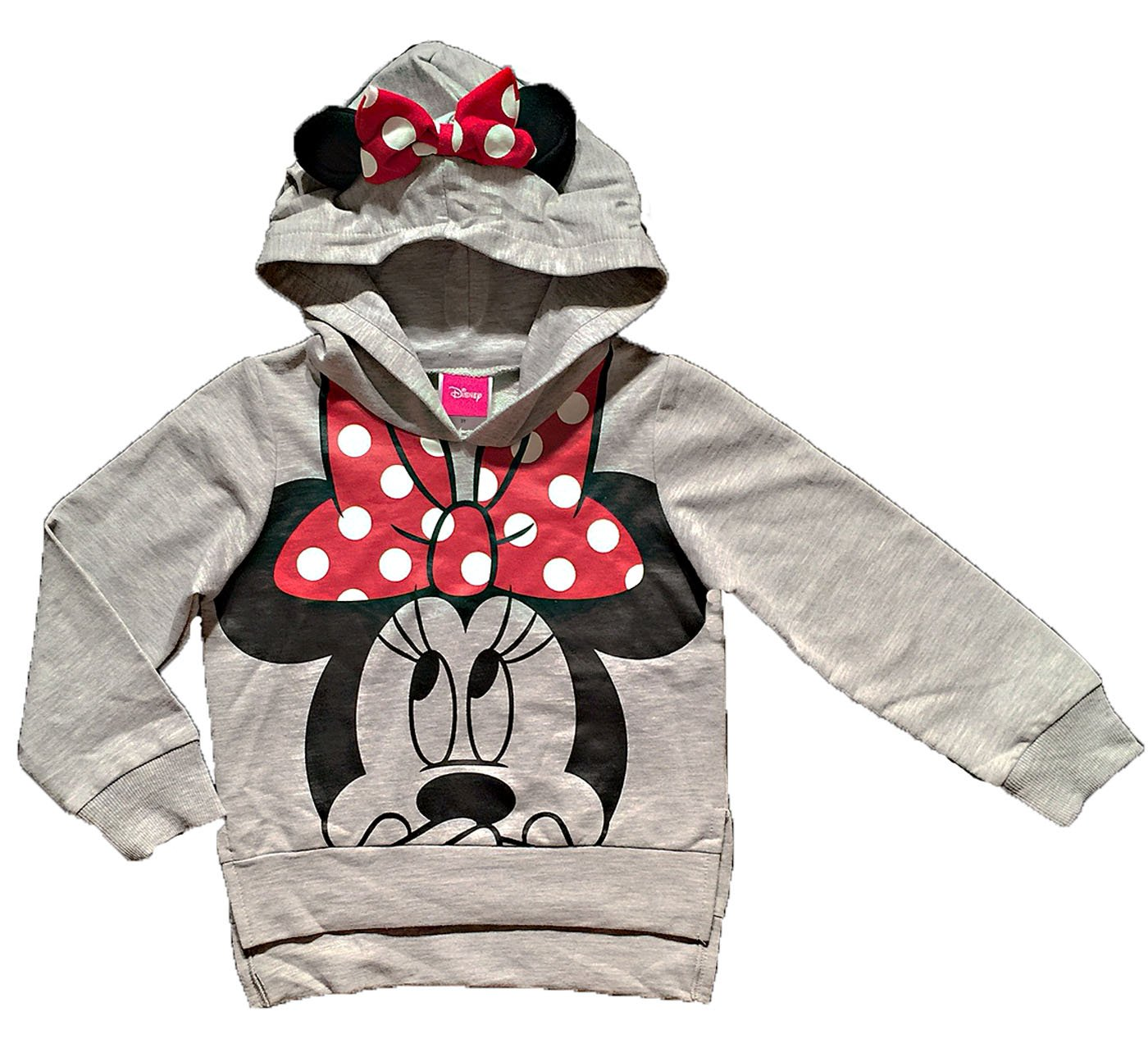 Disney Minnie Mouse Little Girls Lightweight Hoodie Shirt (3T)