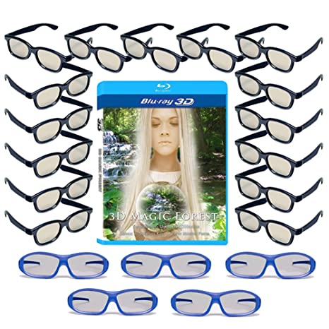 d1c4406ed0b Buy 20 Universal Passive 3D Glasses Family Pack - RealD   Master Image -  Plastic 3-D Glasses (Includes Free 3D Blu-ray) Online at Low Prices in India  ...