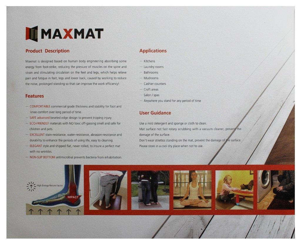 22X18X4//5inch Brown MaxMat Companion Anti-Fatigue for Kitchen Gardening Desking Sitting Mat