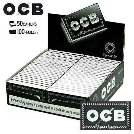OCB  Premium noir courtes 10 carnets de 100 feuilles rouler