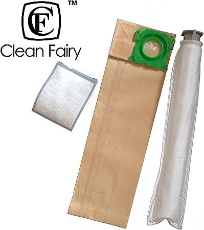 CF Clean – Recambio de bolsas para aspiradora Sebo x, G Series, Sensor Windsor Series aspiradora vertical bolsas y filtro Kit de suministro Micro Primaria Tubo Filtro, Micro filtros de escape: Amazon.es: